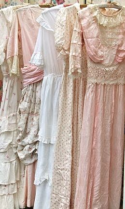 Vintage dresses How soft they look! It would be like wearing a spring sigh