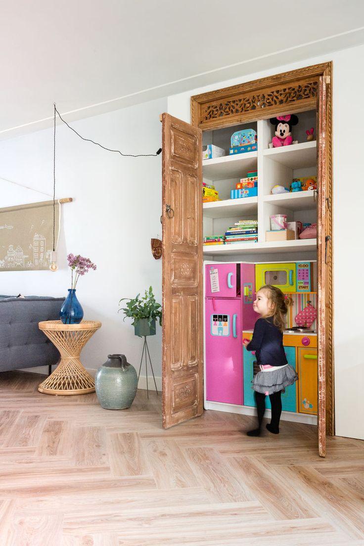 Mooi ontwerp voor het kinderspeelgoed. Op de muur is onze kleur Ultra aangebracht.
