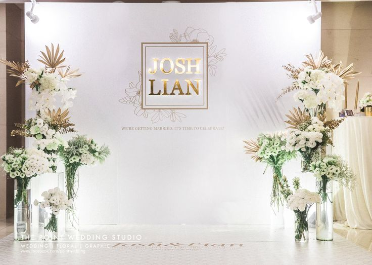 Simple Clean Yet Elegant Backdrop WeddingCeremony