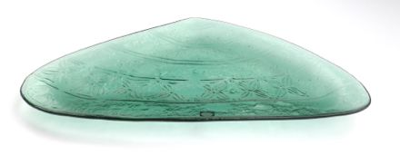 A beautiful centre piece for the Christmas table. A Pacific Pipi Platter.  Glassware New Zealand Glass