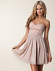 Bandeau Waist Trim Dress - Elise Ryan - Light pink - Party dresses - Clothing - NELLY.COM Fashion on the net