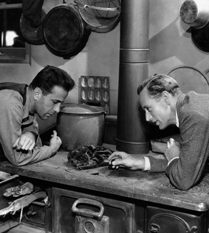 "Humphrey Bogart y Leslie Howard en ""El Bosque Petrificado"" (The Petrified Forest), 1936"