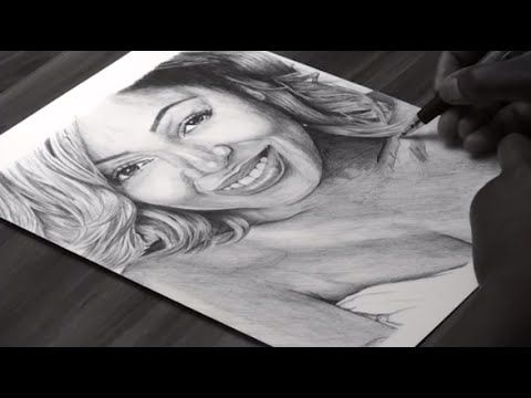 Pen Drawing Of Meagan Good - Freehand Art