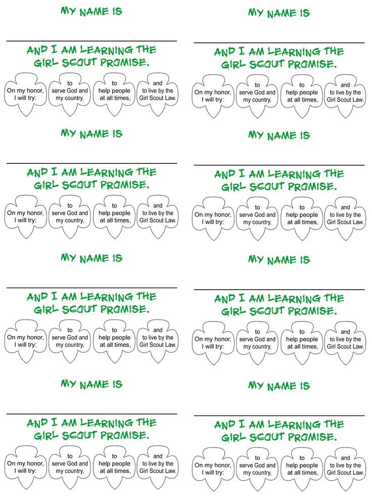 Daisy Girl Scout name tag: image promise_card.gif (2550×3400)