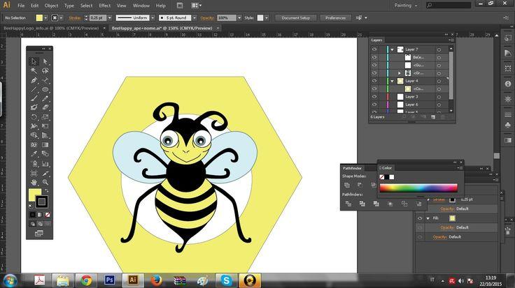 #workinprogress #logo #bee #happy #behappy #honey giadagabiati.com