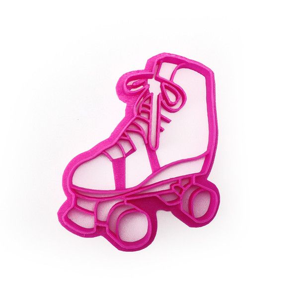 Make cookies for your roller derby team with this roller skate cookie cutter! Or whatever other excuses you can come up with - Roller Skate cookies! Why not? - Handmade - 3D Printed with ABS - Dishwas