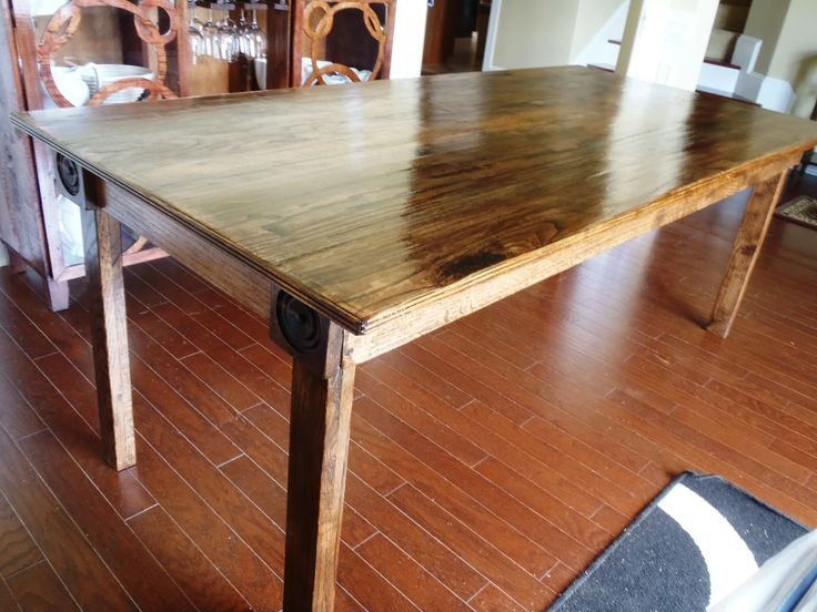 make a rustic dining table rustic dining table my next project will be dining chairs. Interior Design Ideas. Home Design Ideas