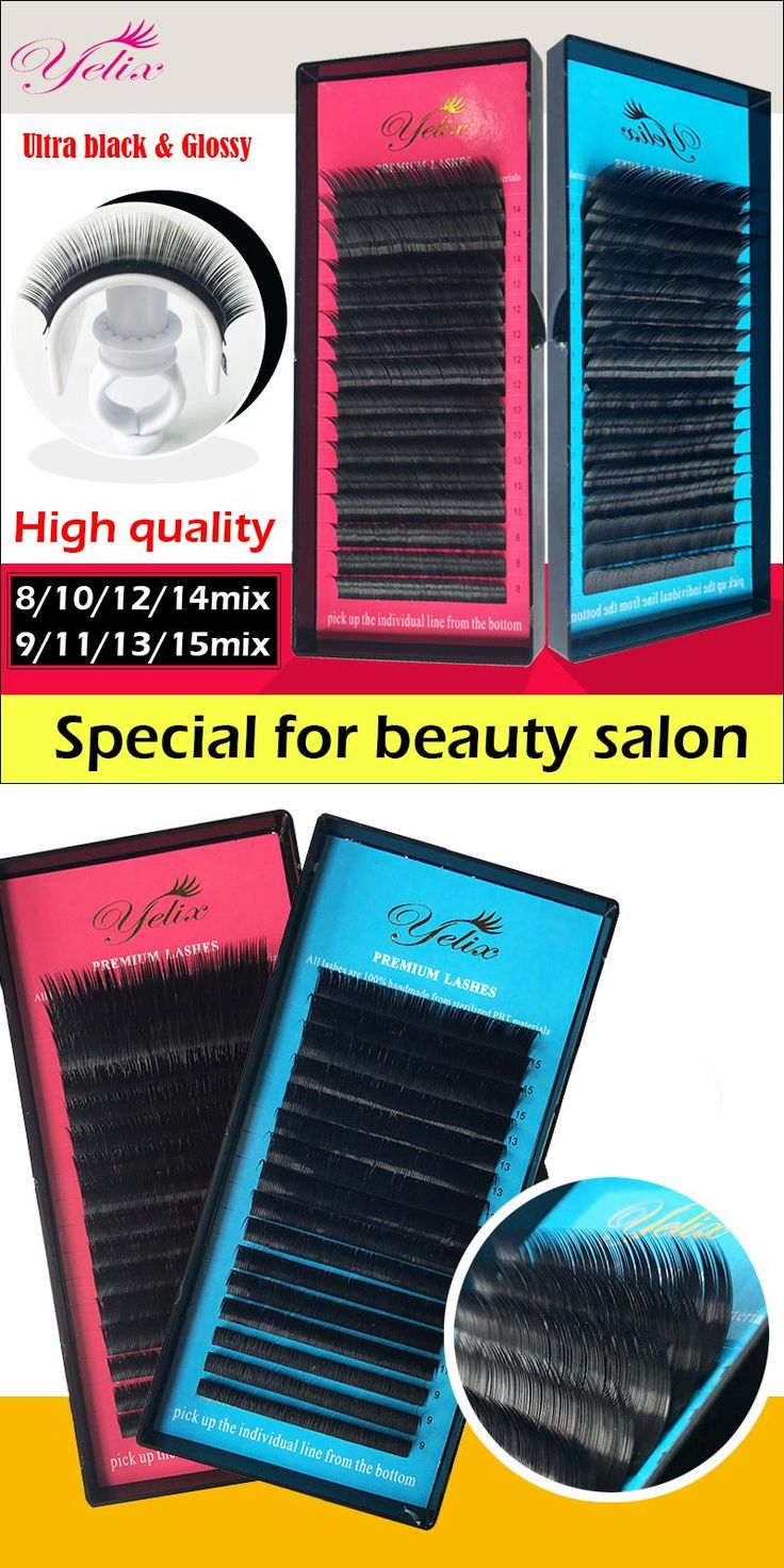 [Visit to Buy] 1/4 Mix tray cilios false eye lashes natural individual eyelash extension mink fake eyelashes Faux Cils lash wimpers black tools #Advertisement