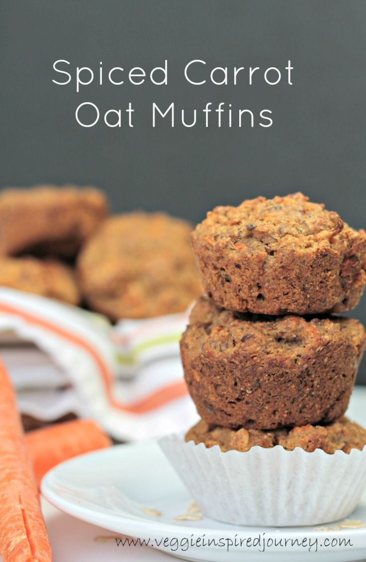 Spiced Carrot Oat Muffins - vegan | dairy free | breakfast | brunch | snack | healthy | kid friendly | clean eating