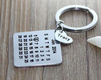 Calendrier personnalisé porte-clé calendrier par aimeestore