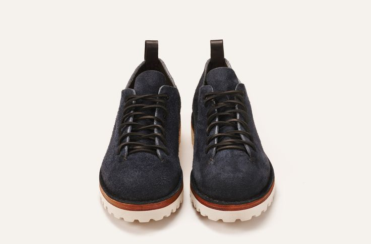 Hiker Low Hairy Suede Marine