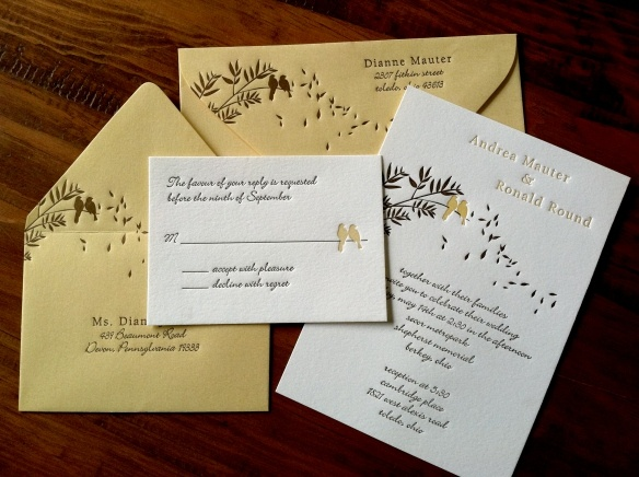 Birds Adorn This Letterpress Wedding Invitation Design From Alice Louise  Press. Customize Yours With Paper. Rustic Chic ...