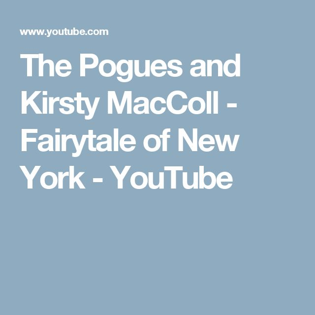 The Pogues and Kirsty MacColl - Fairytale of New York - YouTube