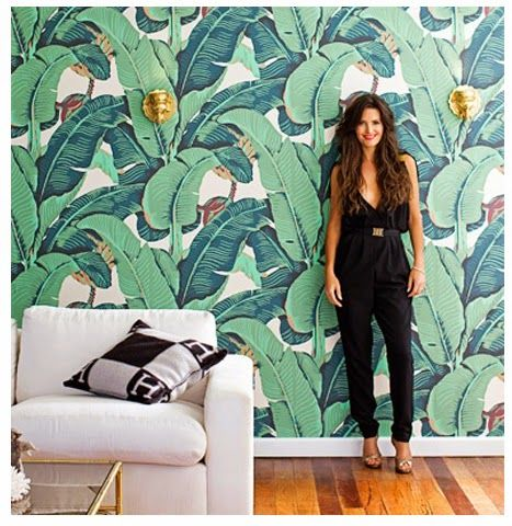 Martinique Banana Leaves Wallpaper Home Decor