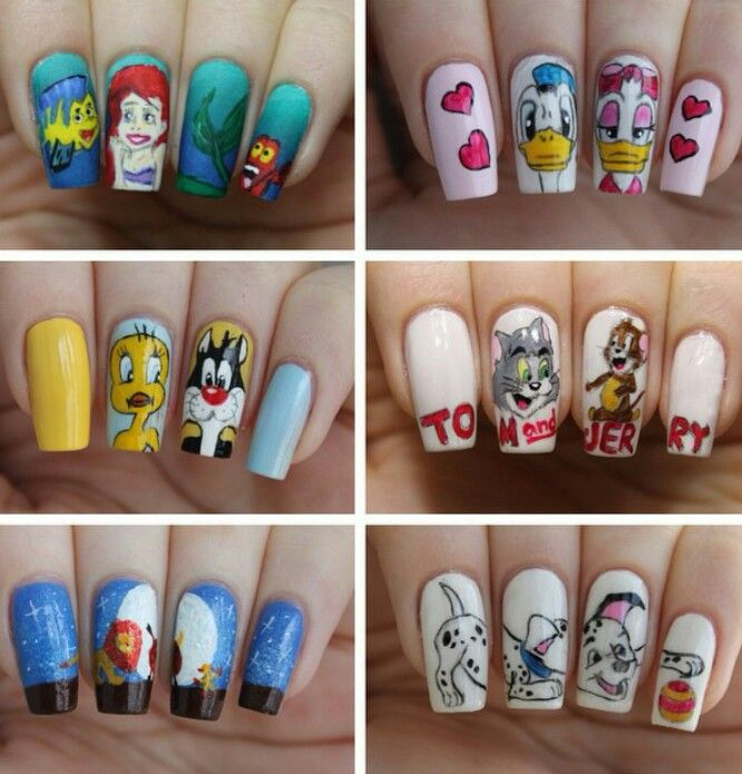 17 best nails images on pinterest nail art beauty tips and make up cartoon animation nail art dalmatian tweety bird tom jerry donald prinsesfo Choice Image