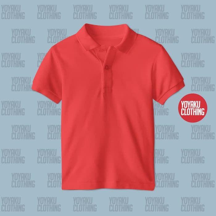 Baju Polo Merah