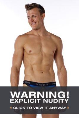 Good Devil Suspend Showoff - XL, Blue Men's Underwear from UnderGear