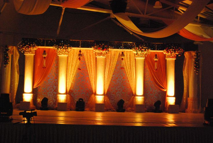 10 best reception decor images on pinterest receptions sangeet stage all set for the stunning couple wedding decorstage junglespirit Gallery