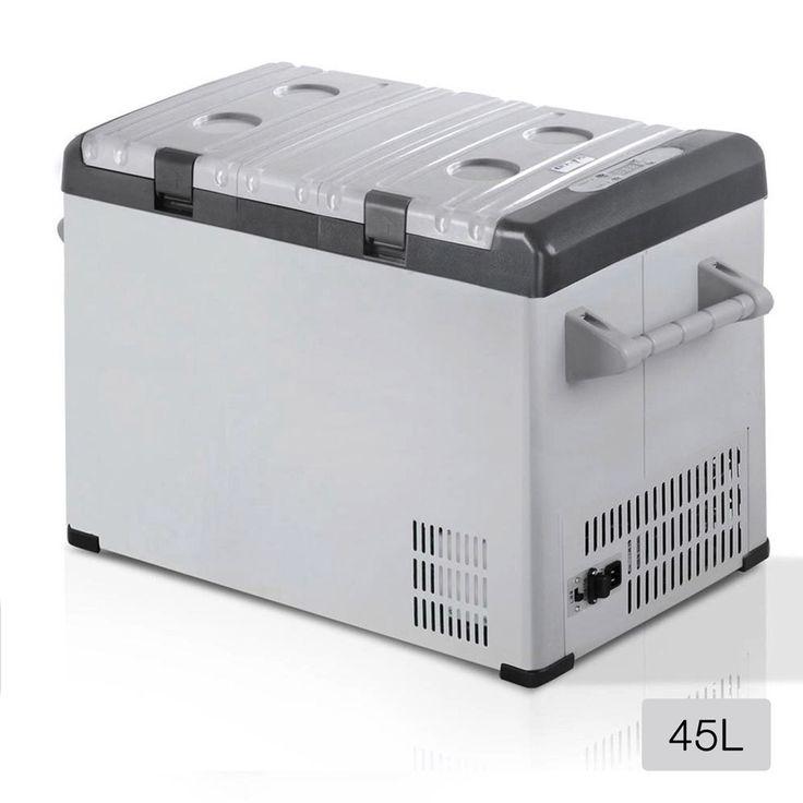 2 in 1 Portable Fridge Freezer Camping Shopping Car Boat Caravan Refrigerator 45L