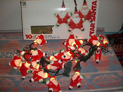 Jetmax String Lights : Star Shaped Santa Christmas Lights Indoor Tree Novelty Claus 11 Feet Set of 2 B eBay ...