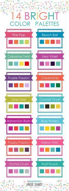 14 Bright Color Palettes