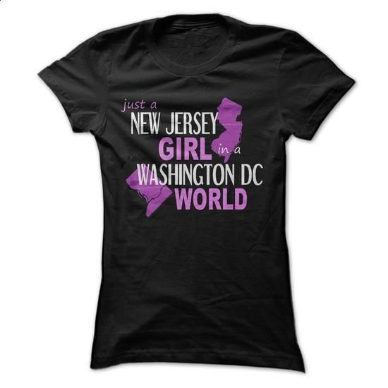 New Jersey girl in a Washington DC  - #t shirt #hooded sweatshirts. ORDER NOW => https://www.sunfrog.com/States/New-Jersey-girl-in-a-Washington-DC--ladies.html?60505