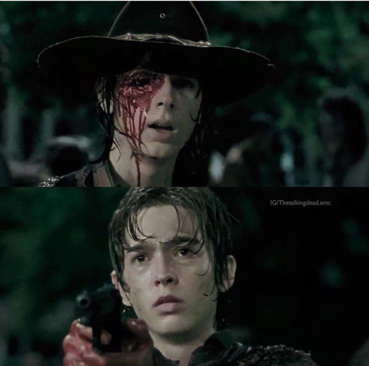 • Ron you shoot Carl's eye! Ugh