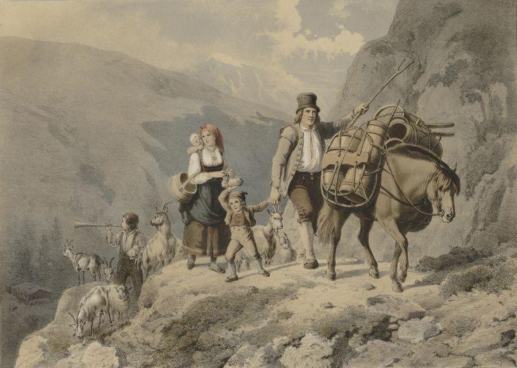 Norske Folkelivsbilleder - Adolph Tidemand - Sæterreisen. (cropped). jpg (5909×4212)