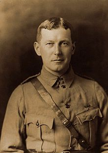 "John McCrae in uniform circa 1914.jpg  1915 – Canadian physician and Lieutenant Colonel John McCrae wrote ""In Flanders Fields"", later considered one of the most notable poems written during the First World War."