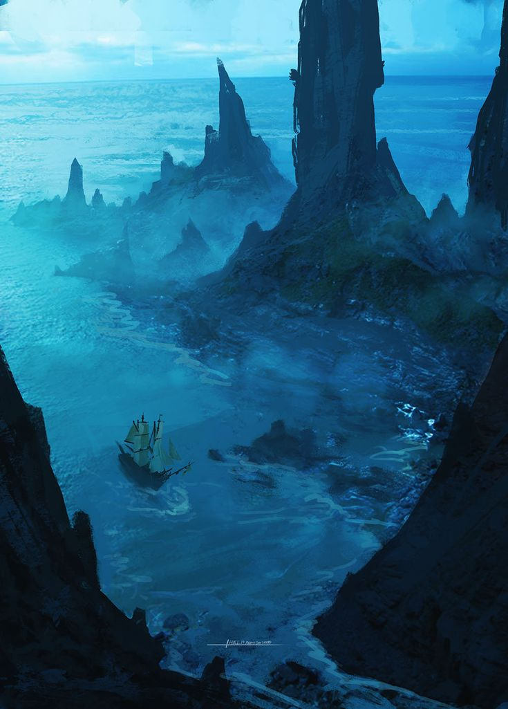 pirate cove, Tyler Thull on ArtStation at http://www.artstation.com/artwork/pirate-cove-3ec0bafa-745f-44e1-a972-0109fdd78c88