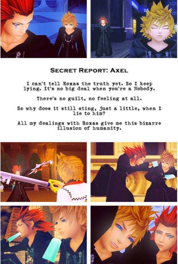 Secret Report: Axel   Axel and Roxas   Kingdom Hearts: 358 ...