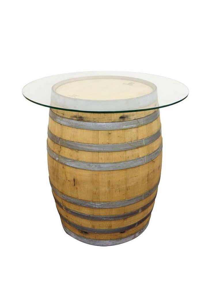 Barrel glass top table