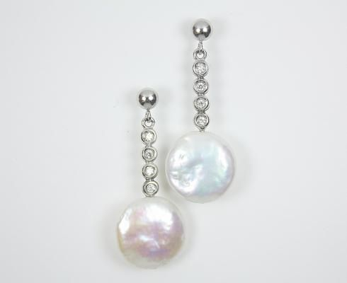 pendientes novia, joyas novia, joyas de bodas, complementos novia, pendientes perlas, pendientes oro blanco, pendientes novias, bodas.net