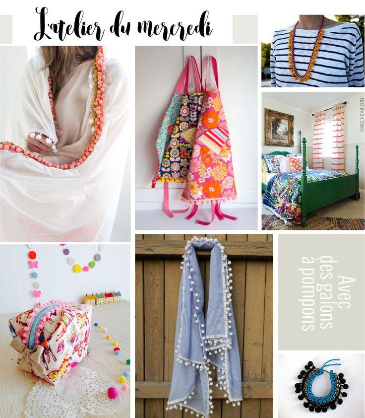 L'atelier du mercredi : avec des galons à mini pompons - Plumetis Magazine