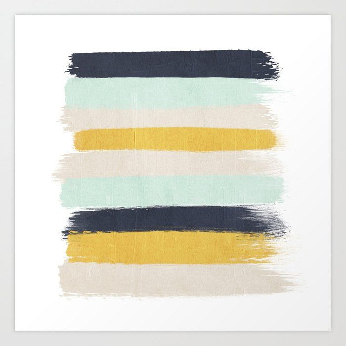 Abstract Stripes Hand Painted Brushstrokes Mint Grey And Navy Gender Neutral Color Palette Gender Neutral Colors Color Palette Living Room Neutral Baby Colors