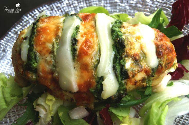 Petto di pollo farcito con ricotta, spinaci e asiago
