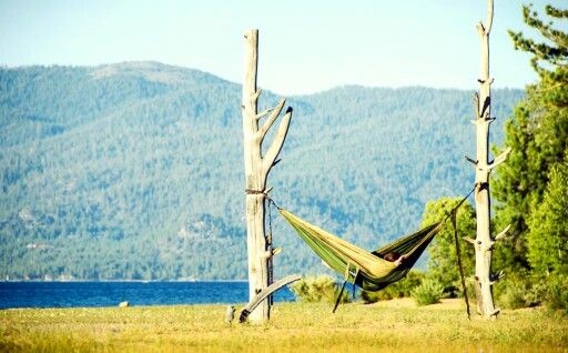 Sometimes all you need is an afternoon, two spaced trees and beautiful nature scenery landscape. Got hammock?