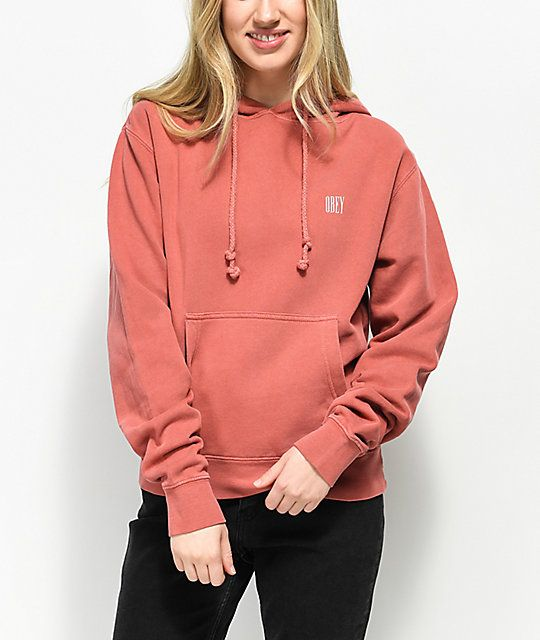 9c396f63 Obey Proof Type Dusty Rose Hoodie in 2019 | •More clothes lol ...