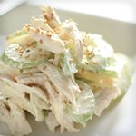 Cut chicken into 1/2-inch cubes. Set aside.   Mix celery, mayonnaise, mustard and parsley in a bowl. Add chicken and&amp