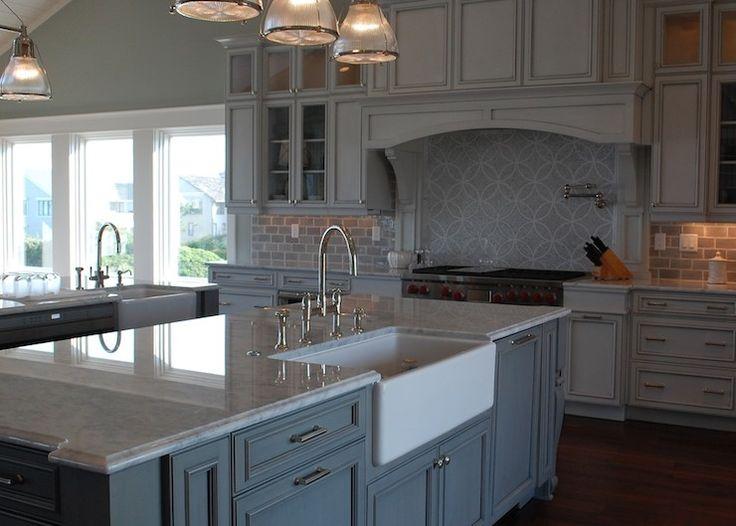 53 best kitchen design ideas images on pinterest kitchen for Blue gray paint for kitchen