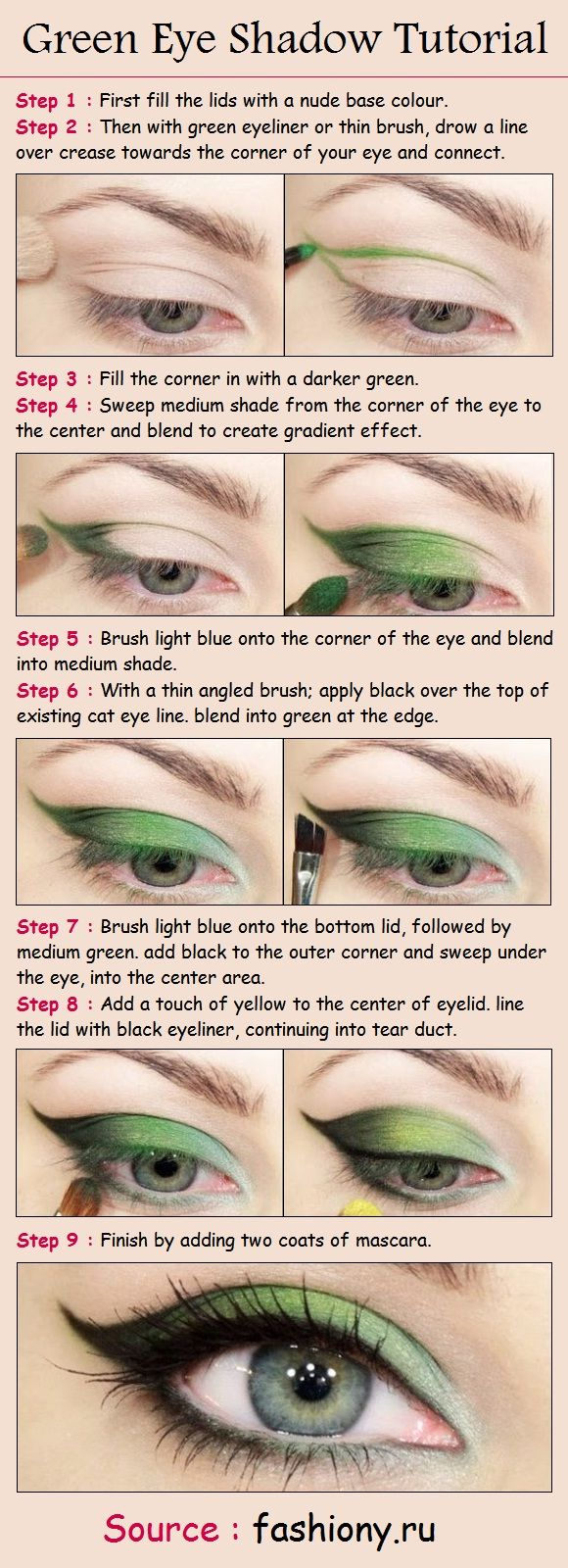 Green Eye Shadow Tutorial | PinTutorials