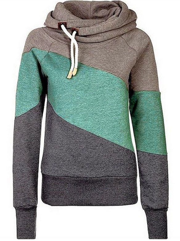 Fresh Contrast Hooded Sweatshirt-I could probably live in this sweatshirt, it's so pretty!