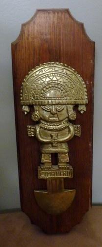 Vintage Brass Inca Sun Gold Wall Plaque | eBay