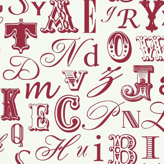 Customer Image Zoomed Alphabet wallpaper, Wall coverings
