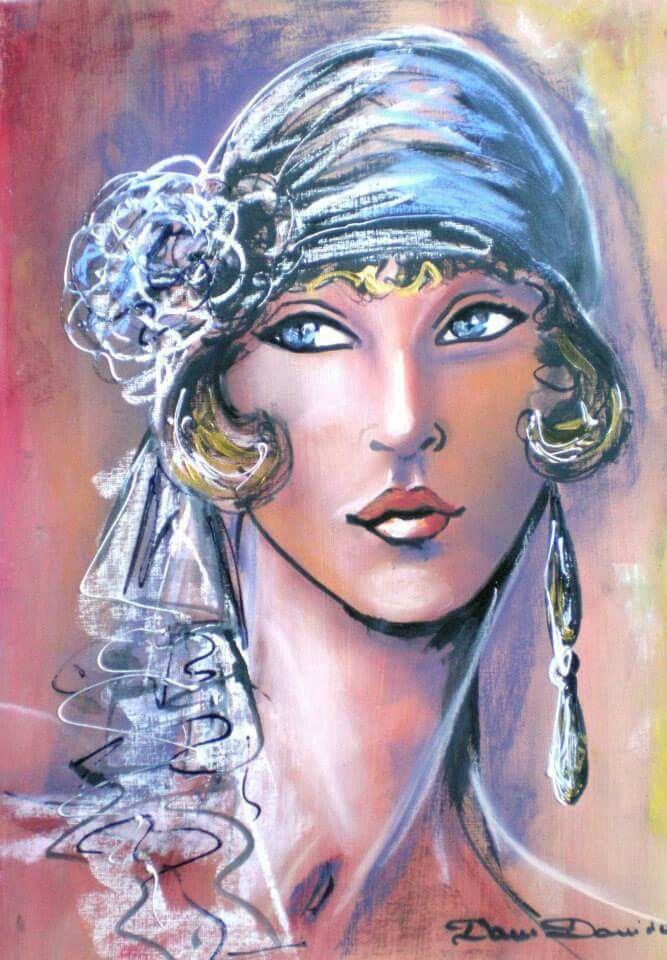 Dam Domido | Portrait dessin, Pinterest peinture, Portrait peinture