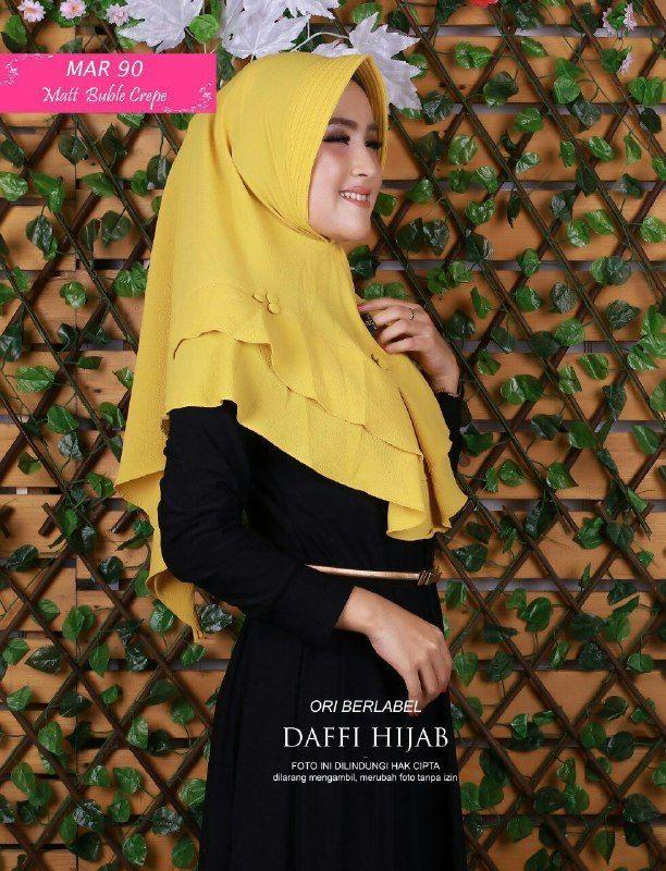 Jilbab Instan Dengan Pet Jilbab Bahan Buble Crepe Ecer Idr 55 000