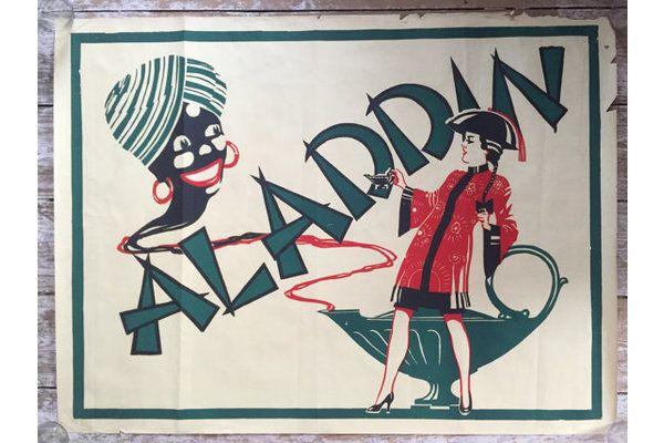 #Vintage Art Deco Alladin Theatre Poster | Vinterior London  #rare #decor #interiors #retro #westend #broadway