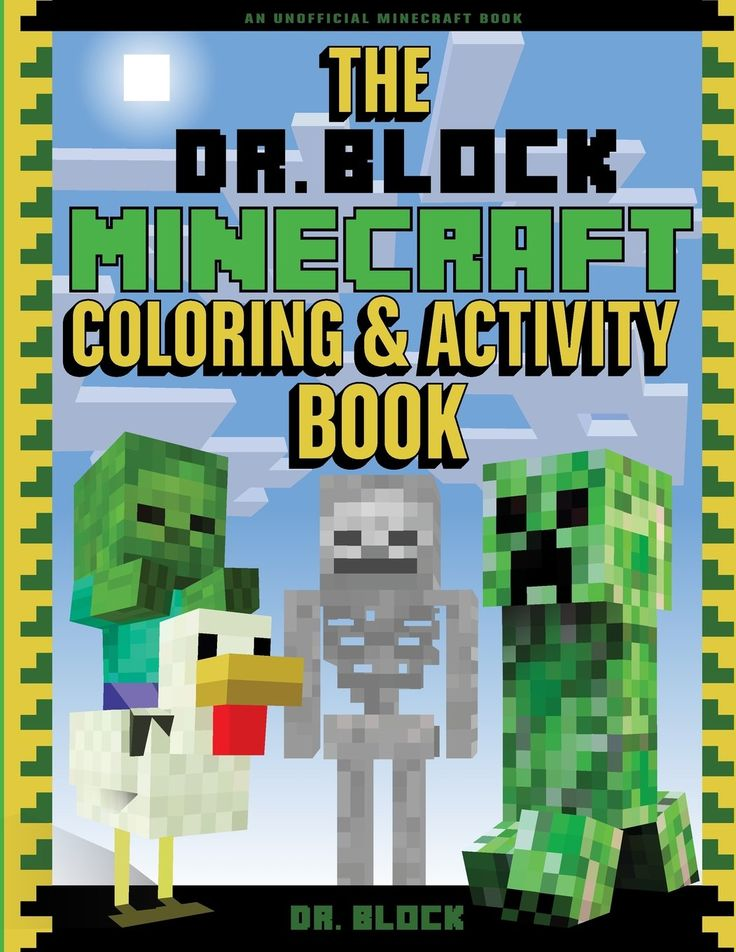 The Dr. Block Minecraft Coloring & Activity Book: An ...