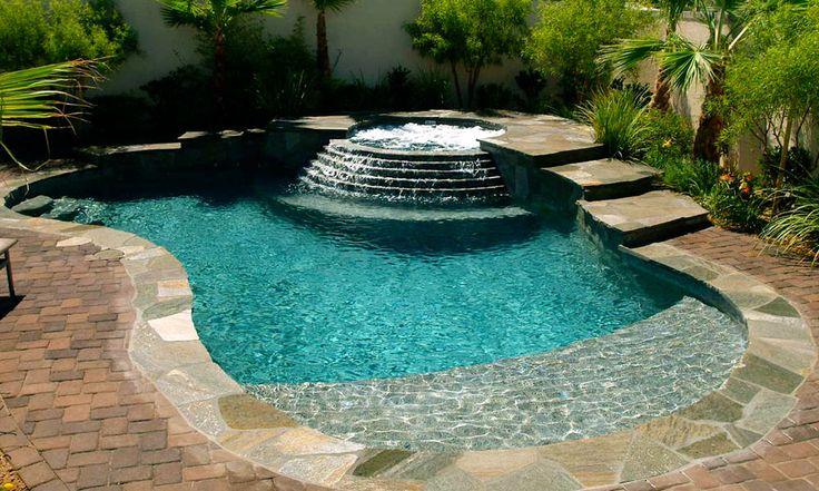 spa pool spool | Spool with walk-in beach entry