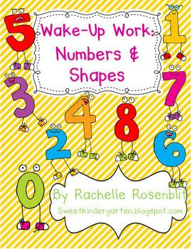 Wake Up Work: Numbers & ShapesFast Finishers, Morning Work, Math Ideas, Kinder Craze, Extra Practice, Math Mad, Mornings Work, Ideas Kindergarten, Homeschool Class